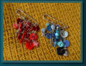 Red Star and Blue Mermaid Charm Kilt Pins