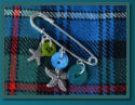 Blue & Green Starfish Girl's Kilt Pin