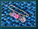 Pink & Purple Butterfly Girl's Kilt Pin