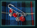 Red Ladybird Girl's Kilt Pin