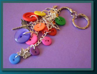 Rainbow Insect Cluster Bag Charm / Keyring