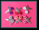 Pair Button Hair Clips - Stars