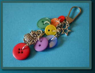 Rainbow Owl Wee Cluster Bag Charm / Keyring
