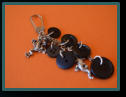 Black Witches Brew Wee Cluster Bag Charm / Keyring