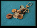 Brown Cat Wee Cluster Bag Charm / Keyring