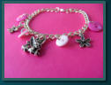 Pink Fairy Child's Button Charm Bracelet