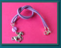 Lilac Horse Child's Button Charm Necklace
