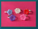 Child's Button Rings - Flowers