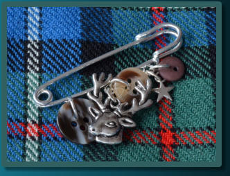 Brown Stag Boy's Kilt Pin