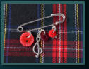 Red Music Boy's Kilt Pin