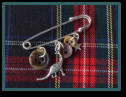 Brown Dinosaur Boy's Kilt Pin