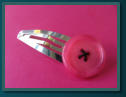 Hot Pink Jumbo Button Hair Clip