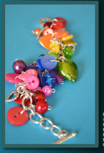 Rainbow Button Chain Necklace