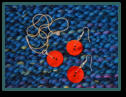 Red Single Button Pendant Set with Single Button Earrings